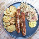 Thuringer worst met zuurkool en aardappeltjes